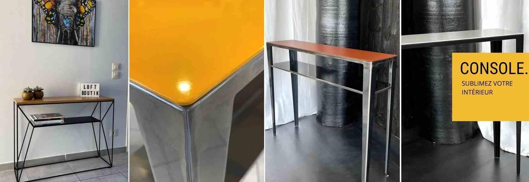 loftboutik meuble console mobilier design table basse design. Black Bedroom Furniture Sets. Home Design Ideas